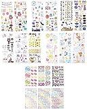 Zink Conjuntos de Adhesivos Coloridos y Decorativos para proyectos de Papel fotográfico instantáneo (Mint, Snap, Zip, Pop, Z2300): 9 Conjuntos únicos.