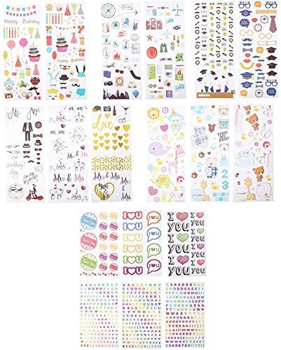 Zink stickers, kleurrijk, decoratief, voor projecten, fotopapier (mint, uitlijning en rits, pop, Z2300) – 9 unieke games
