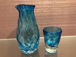 沖縄 琉球グラス 青 ぐい吞み 冷酒 日本酒 グラス お酒好き 沖縄 限定 お土産 引っ越し祝い 開業祝い