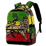 LORVIES - Mochila de hombro con bandera del León de Judá, para estudiantes escolares, bolsas de viaje