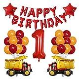 CHENGLGC Globos 38 unids Tren Globo Bombero camión Ambulancia escuelas de Transporte Transporte ingeniería Coche Ballon cumpleaños Fiesta decoración Juguete Regalo (Color : 11)