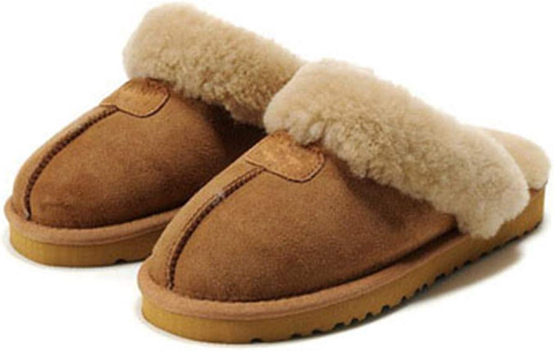Nafanio Home Winter Slippers läder Warm Warm Warm Arch Support Memory Foam kvinnor män Fur House Ino hus Badrumsskor  är diskonterad