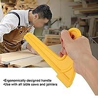 鋸刃プッシュスティック、2個のプッシュスティック、頑丈な固体ABSボディ黄色の耐久性のあるテーブルルーターテーブルのシェーパーのソージョイント