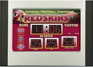 Team Sports Washington Redskins Scoreboard Desk Clock