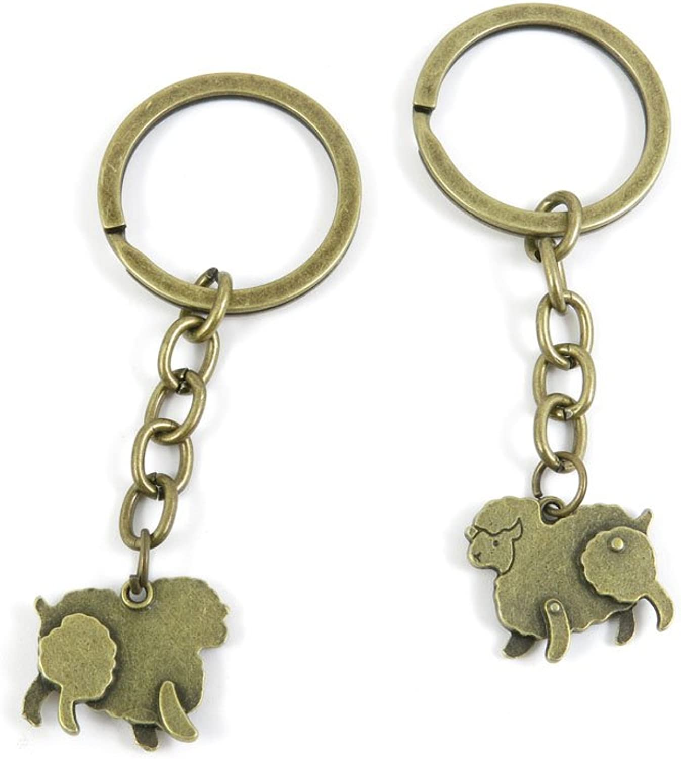 190 Pieces Fashion Jewelry Keyring Keychain Door Car Key Tag Ring Chain Supplier Supply Wholesale Bulk Lots R8DF0 Sheep