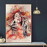 Sanwooden Mariah Carey Kunstdruck Poster und Drucke