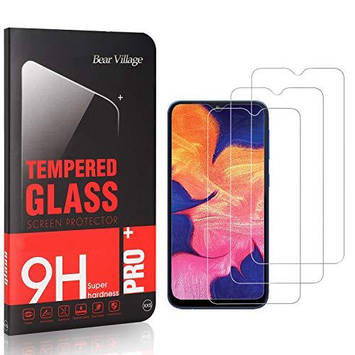 Bear Village® Verre Trempé pour Galaxy A20, Sans Poussière, Anti Rayures, 3D Touch Protection en Verre Trempé Écran pour Samsung Galaxy A20, 3 Pièces