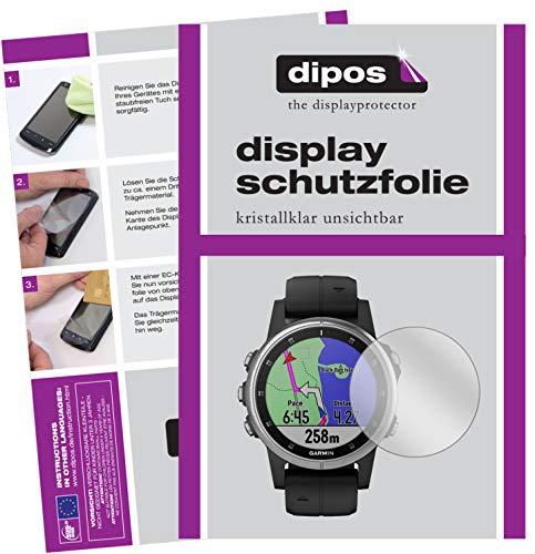 dipos I 6X Schutzfolie klar kompatibel mit Garmin Fenix 5s Plus (42mm) Folie Bildschirmschutzfolie