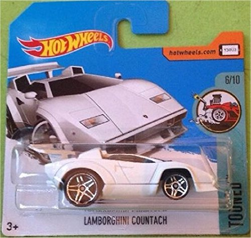 HOT WHEELS 2017 Tooned Lamborghini Countach White 54/365 (Short Card) …