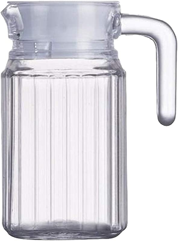 LOVIVER Hot Cold Water Pitcher 17Oz 500ml Acrylic Pitcher With Airtight Lid Water Pitcher With Lid And Handle Juice Pitcher Water Carafe
