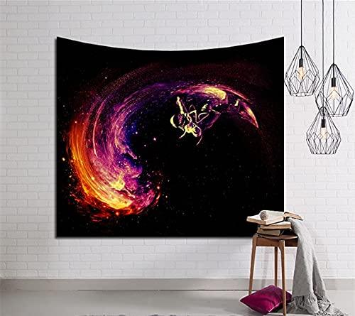Galaxy Tapiz de pared Hippie Retro Decoración para el hogar Sala de estar Dormitorio Tapiz Estilo bohemio Dormitorio Tela colgante A12 150x200cm