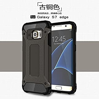 ZITEZHAI-protection PC+TPU Protective Hard Case 2 in 1 Heavy Duty Hybrid Armour Tough Style Shockproof for Samsung Galaxy S7 Edge (Color : Bronze)
