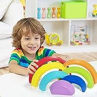 Lewo di Legno Arcobaleno Giocattolo di apprendimento Geometria Costruzioni Puzzle Giochi Educativo 7 Pezzi #1