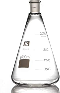 2000ml,Glass Erlenmeyer Flask,2 Litre,Conical Flasks,24/40,Laboratory Glassware Shipped from US Warehouses