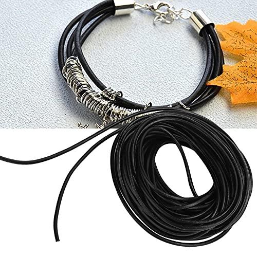 Hilo de cuero de microfibra para abalorios, cordón para manualidades encerado Cordón de abalorios para colgantes Amuletos para pulsera Fabricación de joyas Artesanía para cristales Perlas(3 mm)