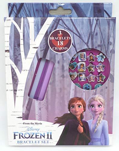 TDL Disney Frozen Set - 3 Pulsera + 18 Colgante - Licenciado Oficialmente - 3 Bracelets + 18 Charms