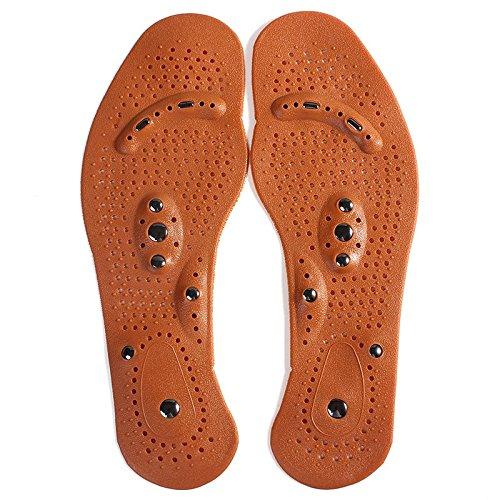 Terapia magnética imán salud masaje de pies Plantillas Hombres/Mujeres Zapato comodidad plantillas almohadillas para orejas Imán