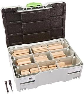 Festool 498204 Beechwood Domino XL Assortment, Multi-Colour, Set of 306 Pieces