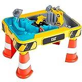 Theo Klein 3237 Tavolo da gioco sabbia e acqua CAT, Con escavatore, ribaltabile, 2 tubi, stopper e vasche estraibili, Dimensioni: 64 cm x 48 cm x 40 cm, Giocattolo per bambini a partire dai 18 mesi
