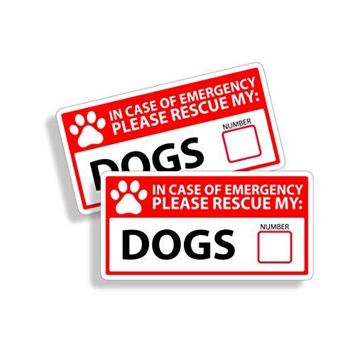 1st Responder Emergency Dog Dogs Puppy Rescue Decal Sticker Fireman 1st First Aid Fire Pet