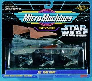 Star Wars Micro Machines Collecton VII: Mon Calamari Star Cruiser, Jabba's Desert Sail Barge and Speeder Bike with Rebel Pilot