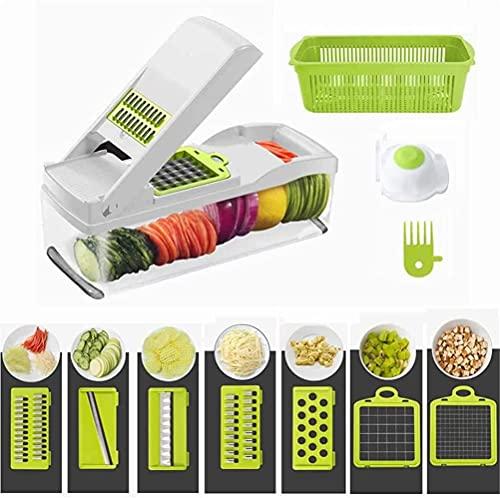 【プロ料理人が推薦】 FOOKO スライサー 千切り 1台8役 抗菌 多機能 スライサー 野菜 キャベツ 千切り だいこんおろし器 調理器 大根おろし しりしり器 ハンドガード付き…