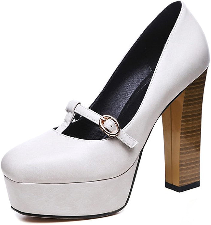 XUERUI New Comfortable Shallow Mouth shoes Female Waterproof Platform Fashion Thick with Super High Heels (Size   EU39 UK6 CN39)