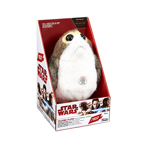 Star Wars-Funko Talking PORG Peluche parlante Mediano con luz y Sonido, Multicolor, Medium SW05562