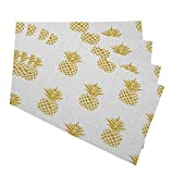 Best Placemats - Mugod Pineapple Placemats Seamless Summer Gold Pineapple on Review