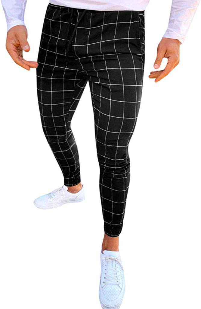Men's Striped Dress Pants Business Style P Limited price fit Casual free Slim