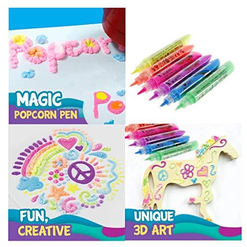 Iusun Magic Popcorn Pen - DIY Colorful Bubble Popcorn Drawing Pens Painting Pen 6PCS/Set for...
