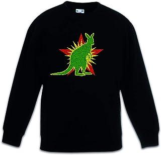 Urban Backwoods Socialist Kangaroo Sudadera Suéter para Niños Niñas Pullover Schwarz