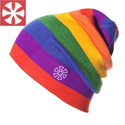 Oddity Regenbogen Farbe Winter Strickmützen Bones Beanie Outdoor Sport Ski Cap für Männer & Frauen