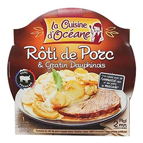 La Cuisine dOcéane Rôti de porc & gratin dauphinois - La barquette micro-ondable de 300g