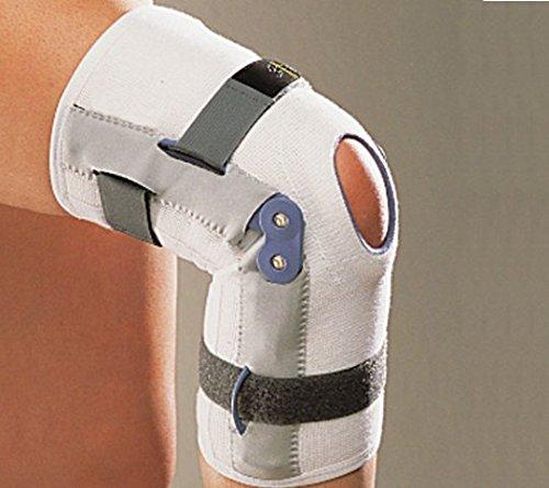 Rodillera con refuerzos laterales ligamentaire articulados Ligaflex negro-Protector de rodilla de 34 a 36 cm
