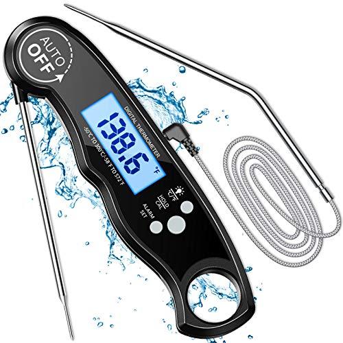 Cocoda Termometro Cucina Digitale, Lettura Istantanea LCD Termometro Forno con 2 Acciaio...