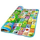 Alfombra de Juego para Bebé Niños Mat Toddler Crawl Infantil Carpet con Patrones Animales y Alfabetos para Picnic y Jugar 1.8 * 1.2 M