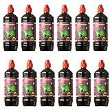 Farmlight BBQ 1L Accendifuoco Liquido x Barbecue e camini 12 Bottiglie da 1 litro, Purple, 12 litri
