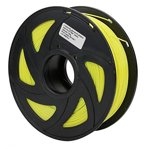 3D Printer Filament, 1.75mm Diameter 35.3oz PLA Filament Bundle Long Yellow Printing Material Consumables Accuracy +/- 0.05 mm Spool for Most Printer