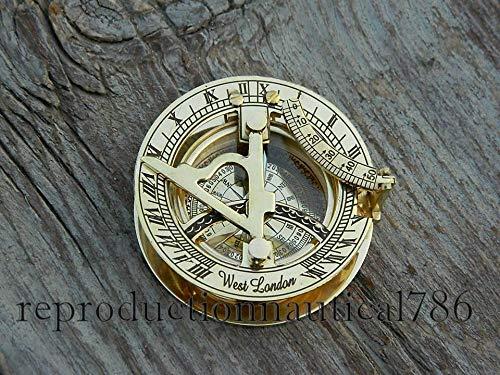 Vintage Marine Schiff Astrolabe Messing Sonnenuhr Kompass Handarbeit Arbeit West London Sonnenuhr Kompass Schönes Geschenk