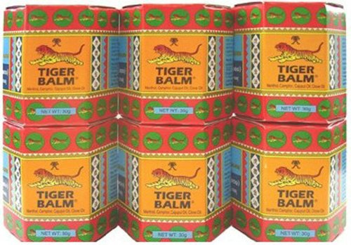 6x 30g NIB Big Jar Tiger Balm Red Thai Original Massage Spa Pain Relief