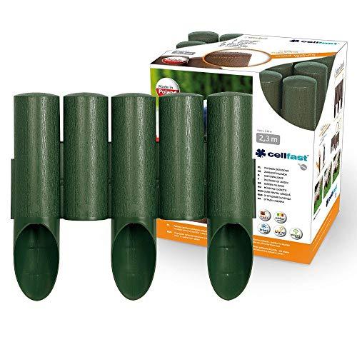 Cellfast Standard Gartenpalisade Rasenkante Palisade Beetumrandung Grün (20,7m)
