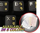 Armenian Keyboard Stickers with Yellow Lettering ON Transparent Background for Desktop, Laptop and Notebook