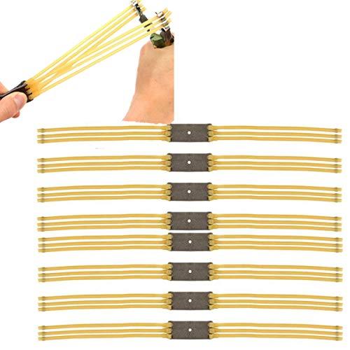 Haosell - Juego de 8 piezas de goma de repuesto para tirachinas de piedra, bandas de goma para tirachinas al aire libre Slingshot banda de repuesto para catapult Bands Slingshot