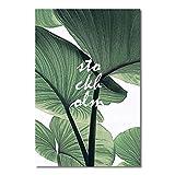 SPLLEADER 2020 - Póster nórdico de plantas verdes frescas para decoración de la sala de estar, decoración del hogar, sin marco, 5, 60x80cm No Frame