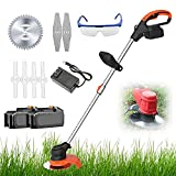 Handheld Lawn Mower,Cordless Electric Grass Trimmer,Portable Electric Mower...