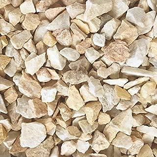 砂利 砕石 天然石 石 洋風 庭石 小石 黄色 クラッシュ イエロー ミックス 約2cm 20mm内外 約15-30mm 20kg入