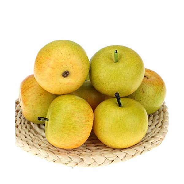 Gresorth 6pcs High-Grade Apple Decoration Lifelike Fruit Food Toy Artificial Fake Apples Home Party Adornment Photography Props