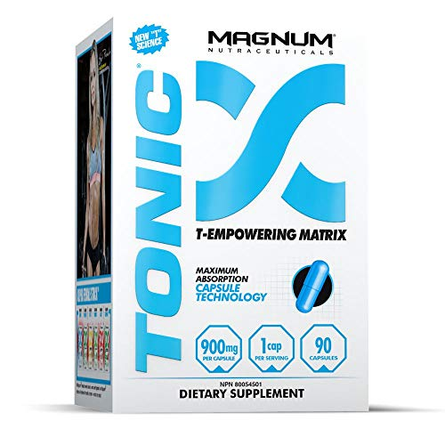 Magnum Nutraceuticals Tonic  - 90 Capsules - Natural Test Booster - For Men & Women - Increase Energy - More Lean Muscle