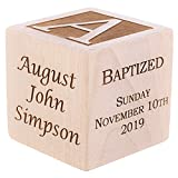 Personalized Baby Baptism/Dedication/Christening Wood Block, Choose from 3 Sizes, Baptism Gift for Boy, Girl, Baby Dedication Gifts, Unique Baptism Gifts, Yazidism, Sikhism (2')
